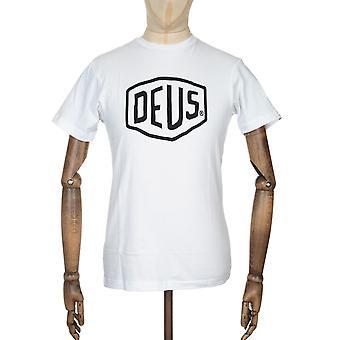 Deus Ex Machina Shield Logo Tee - White