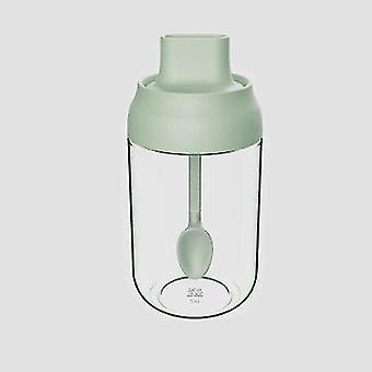 Frascos de especias y condimentos de vidrio de 250 Ml (Verdes)