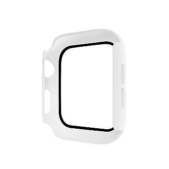 2PCS Hat-prince teljes lefedettségű PC tok + Edzett üvegvédő az Apple Watch Series 5 / 4-hez