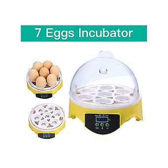 Автоматический инкубатор 7 яиц Умный цифровой штрих-инструмент для утиной птицы Куриный гусь