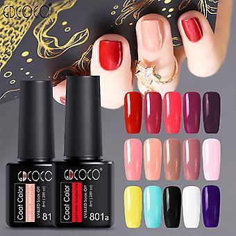 12pcs Nail Art Set 8ml Nail Polish Glue Colle amovible pour la conception de salon de manucure