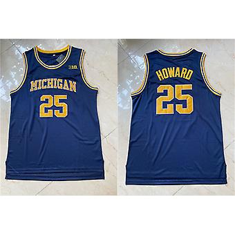 Men's Basketball Jersey #25 Howard Space Movie Jerseys 90s Hip Hop Stitched Clothing For Party Outdoor Sports T-shirt Blue S-xxl