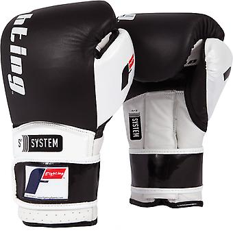 Fighting Sports S2 Gel Boxing Power Sparring Gloves - Black/White