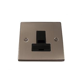 Causeway 13A Fused Switched Connection Unit, Satin Chrome, Black