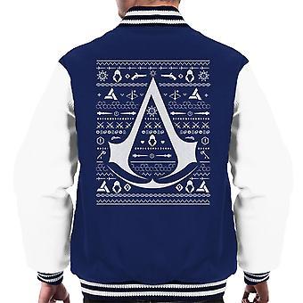 Christmas Knit Assassins Creed Men's Varsity Jacket