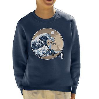 The Great Wave Of Republic Legend Of Korra Kid's Sweatshirt
