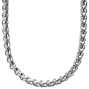Iced out solid hip hop chain - WEAVED 6mm silver