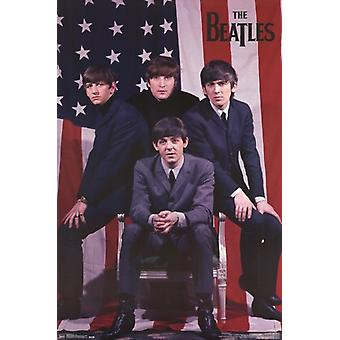 The Beatles - Flag Poster Poster Print
