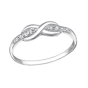 Infinity - 925 Sterling Silver Jewelled Rings - W20174X