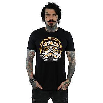 Stjärniga Wars Stormtrooper Dia De Los Muertos t-tröja