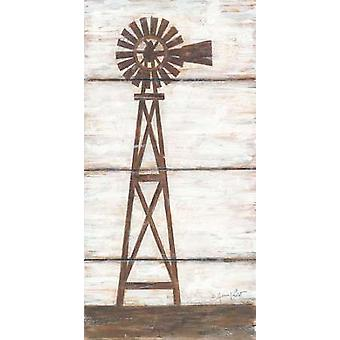 Farmhouse Windmill I Poster Print by Annie LaPoint (9 x 18)