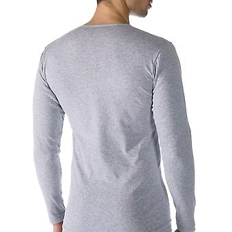 Mey 49104-620 Men's Casual Cotton Grey Solid Colour Long Sleeve Top