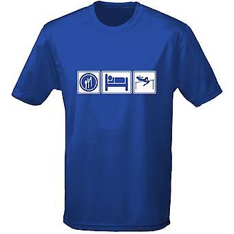 Äta sova friidrott Mens T-Shirt 10 färger (S-3XL) genom swagwear