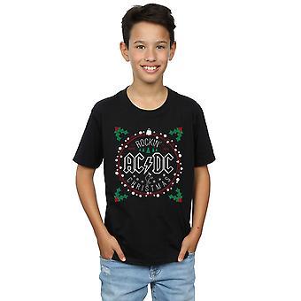 AC/DC Boys Christmas Circle T-Shirt