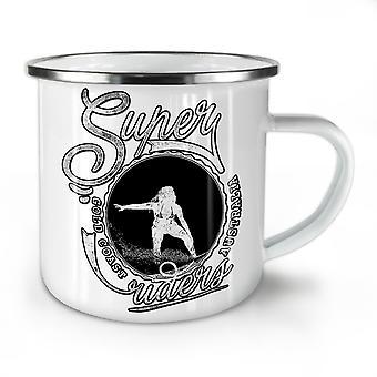 Super Riders Sea Holiday NEW WhiteTea Coffee Enamel Mug10 oz | Wellcoda