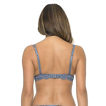 Sapph 6040-120-18-02 Women's Thalia Jeans Blue Lace Underwired Push Up Bra