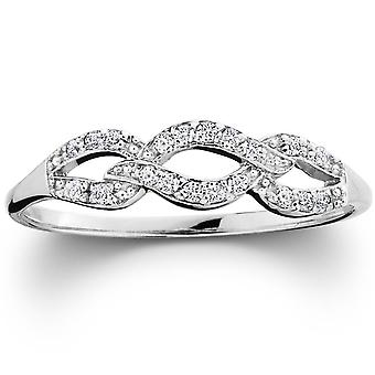 1 / 10ct Petite Diamond Infinity Ring 10K Weißgold