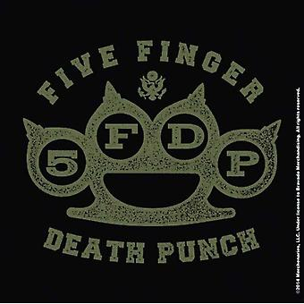 Five Finger Death Punch Coaster Brass Knuckles new Official Cork single drink