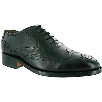 Amblers Mens Ben blonder foret skinn aksent stil Shoe svart