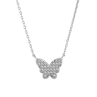 Orphelia Necklace Butterfly 925 Silver With Zirconium  ZK-7316