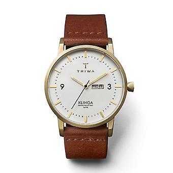 Triwa Unisex Watch wristwatch KLST103-CL010213 ivory Klinga leather