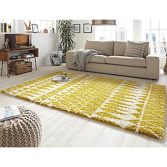 Design cut pile carpet deep pile inspire yellow