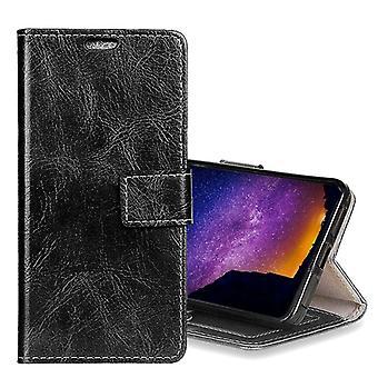 Tasche Wallet Premium Schwarz für Huawei Mate 10 Schutz Hülle Case Cover Etui Neu