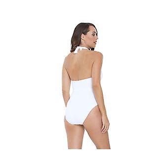 Seaspray SY006435A vrouwen witte effen kleur kostuum een stuk zwembroek
