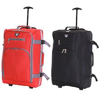 Slimbridge Lobos Cabin Trolley Bag, (SET OF BLACK & RED)