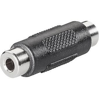 Adapter Jack Audio/chinch elektronicznej 1102046 BKL [1 x gniazdo Jack 3,5 mm - 1 x gniazdo Jack 3,5 mm] czarny