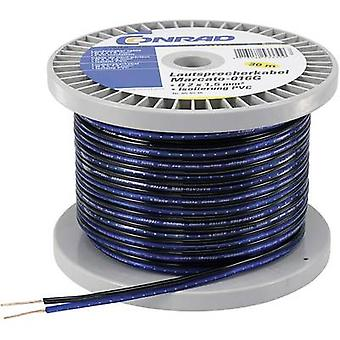 Conrad Components 1243955 Speaker cable 2 x 1.35 mm² Blue, Black 100 m
