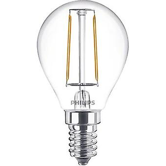 Philips Lighting LED EEC A++ (A++ - E) E14 Droplet 2 W = 25 W Warm white (Ø x L) 45 mm x 80 mm Filament 1 pc(s)