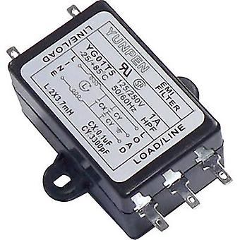 Yunpen YG01T5 EMI filter 250 V AC 1 A 3.7 mH (L x W x H) 68 x 55 x 25 mm 1 pc(s)