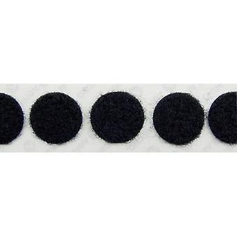 VELCRO® E20101933011425 Hook-and-loop stick-on dots stick-on Hook pad (Ø) 19 mm Black 1120 pc(s)