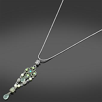 Green Stone Pendant Necklace