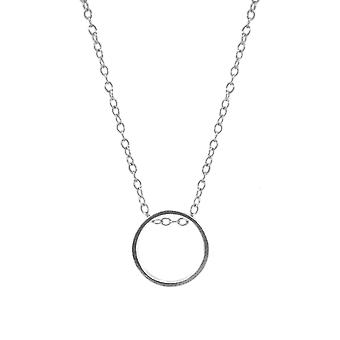 Anchor & Crew Abbott Round Mini Geometric Silver Necklace Pendant