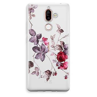 Nokia 7 Plus läpinäkyvä kotelo (pehmeä) - aika kukkia