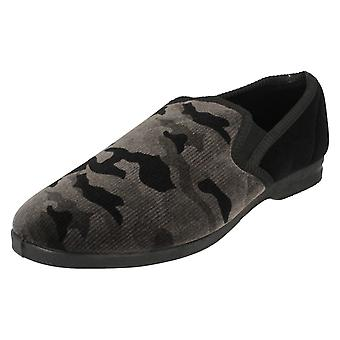 Mens Spot On Camouflage Full Slippers X2011