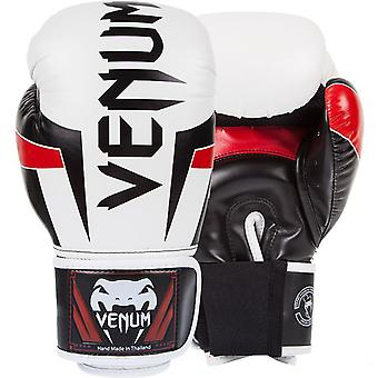 VM Elite krok og Loop trening boksehansker - hvit/sort/rød