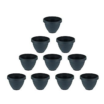 Set of 10 Midnight Blue Self Watering Planter Pots 6 Inch