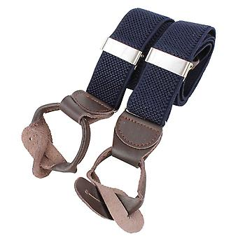 Knightsbridge Neckwear Luxury Braces - Navy