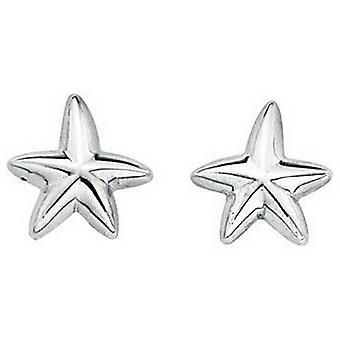 Beginnings Oxidised Starfish Stud Earrings - Silver