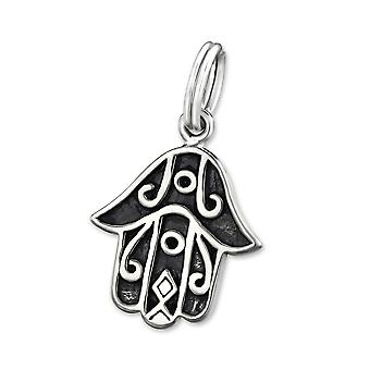 Hamsa - 925 Sterling Silver Charms With Split Ring - W28903x