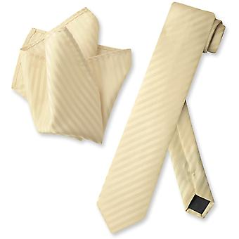 Vesuvio Napoli cravate Skinny rayé rayures verticales Mens cravate & mouchoir