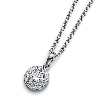 Oliver Weber Pendant Clear 925Ag Rhodium Crystal