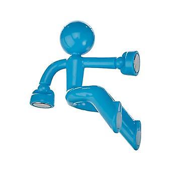 Climbing hubby fridge Magnet-Blue