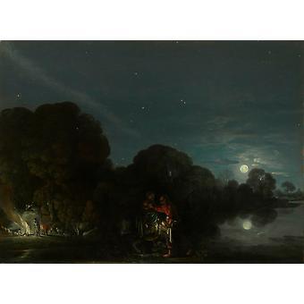 Le vol vers l'Egypte, ELSHEIMER Adam, 48,5 x36cm