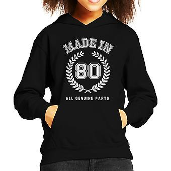 Made In 80 All Genuine Parts Kid's Hooded Sweatshirt