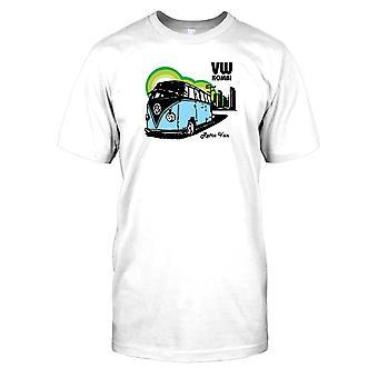 VW Kombi Retro Camper Van Mens T Shirt
