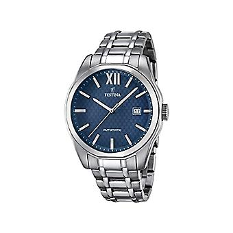 Festina men's watch with STAINLESS steel band analog Display and silver-F16884/3